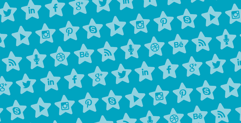 Free Vector Star Social Media Icons