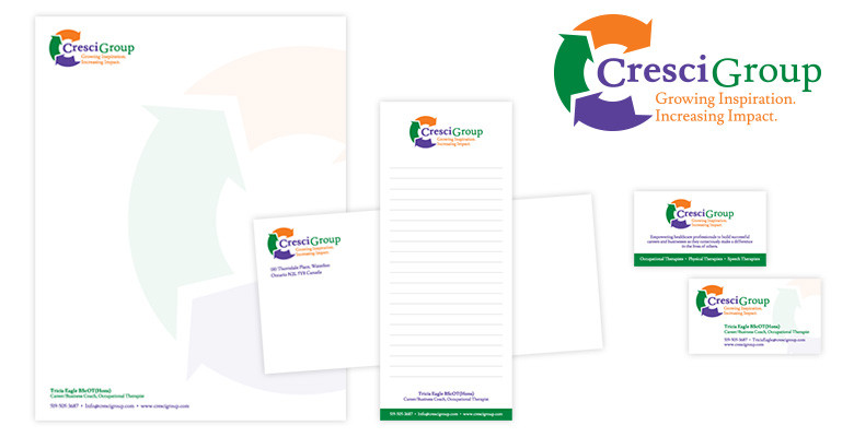 Cresci Group Logo Design and Stationery